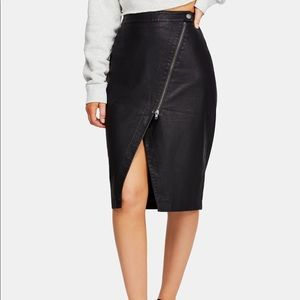 Free People faux leather skirt LAST ONE!